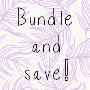 Like a few things? Bundle and save!!